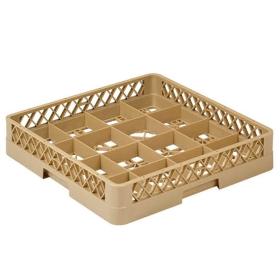 16 Compartment Glass Rack Beige