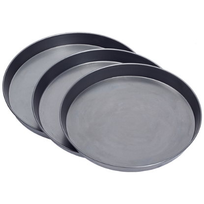 "Black Iron Pizza Pans 9"" Diameter 1.5"" Deep"