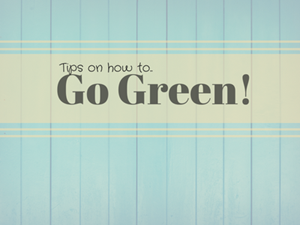 Top Tips on How To Go Green!