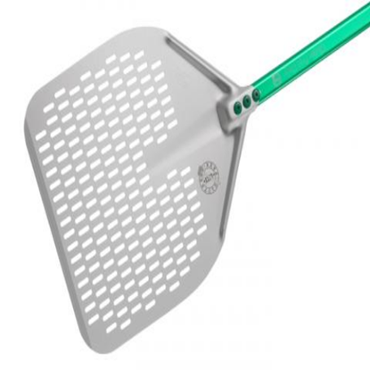 Alum Rectangular Perforated Pizza Peel 36x36cm Gluten Free