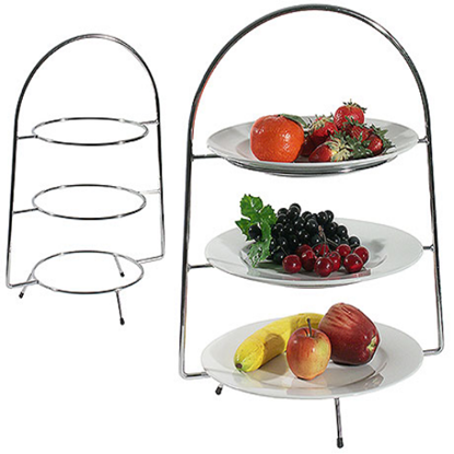 S/S 3 Tier Cake Stand