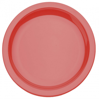 Red Polycarbonate Narrow Rim 17cm Plate