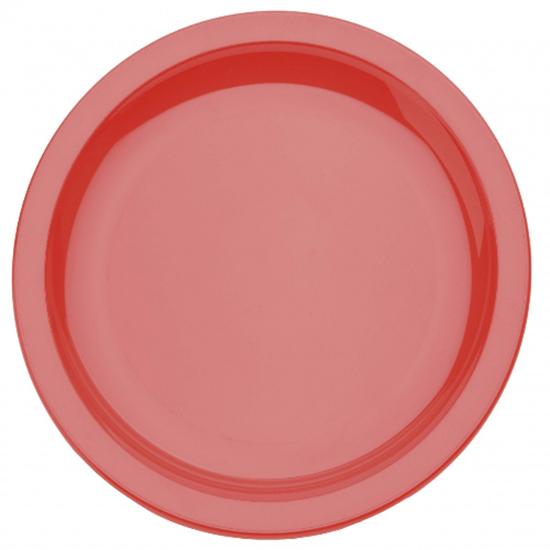 Red Polycarbonate Narrow Rim 17cm Plate