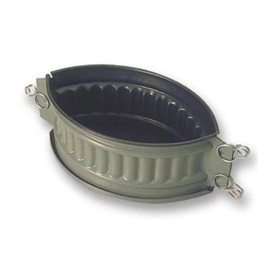 Matfer Exopan Oval Ribbed Pie Mould