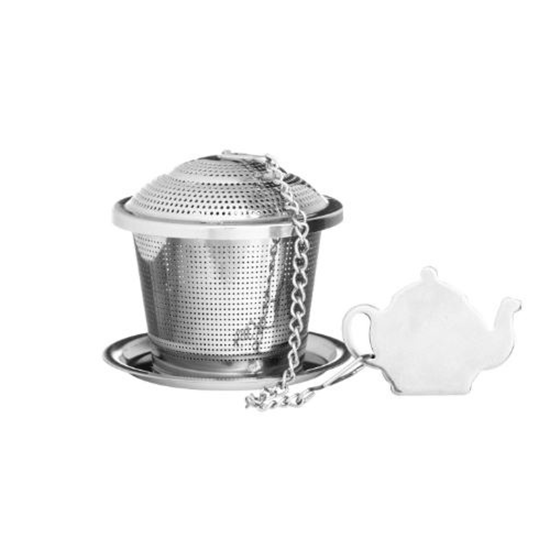 P&K Speciality Novelty Tea Infuser With Drip Tray