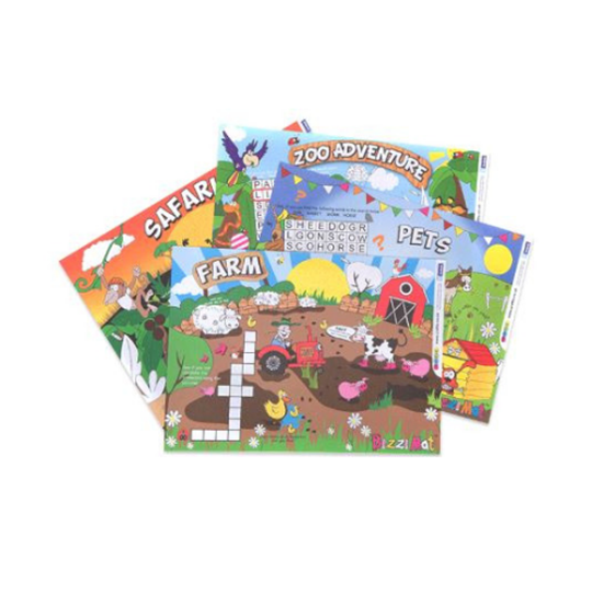 Picture of Kids Bizzi Mats A4 Zoo / Safari / Farm / Pet
