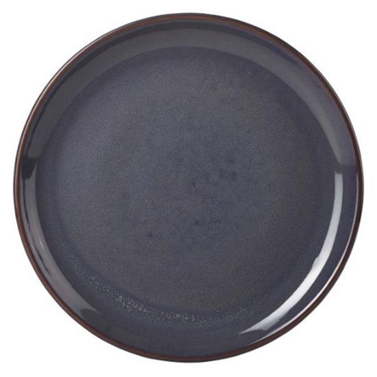 Terra Stoneware Rustic Blue Coupe Plate 19cm