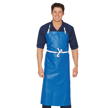 Picture of Denny's Apron - Blue PVC Heavy Duty