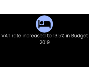 VAT rate increased to 13.5% in Budget 2019