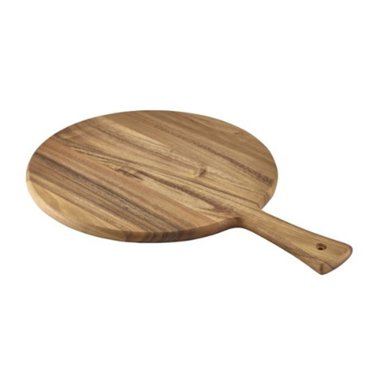 """Picture of Round Acacia Wood Serving Board 13"""" (33cm)"""