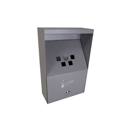 Picture of Genware Stainless Steel Wall-Mounted Outdoor Ashtray