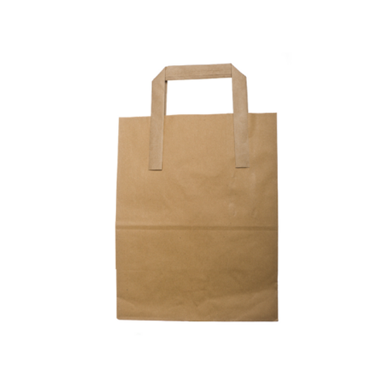 "Picture of Kraft Brown Carrier Bag Medium 9.6x8.7x4.3"" (24.5x22x11cm)"