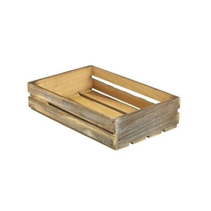 """Picture of Wooden Crate Dark Rustic Finish 13.8x9x3.1"""" (35x23x8cm)"""