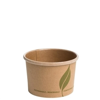 Picture of Kraft Compostable Brown Soup Container 23.7cl (8oz)