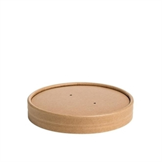Picture of Lid for Kraft Brown Soup Container 16oz