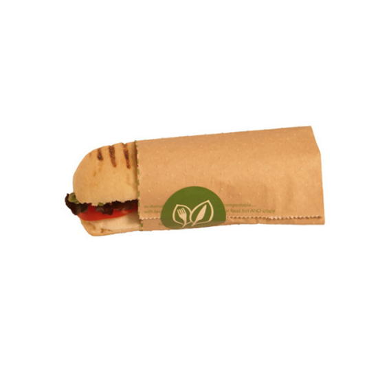 "Picture of Compostable Hot Baguette Pouch 8x10x9"" (20.3x25.4x22.9cm)"