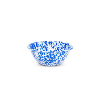 Enamel Splatterware Blue Small Serving Bowl