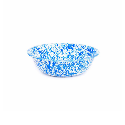 Enamel Splatterware Blue Small Salad Bowl