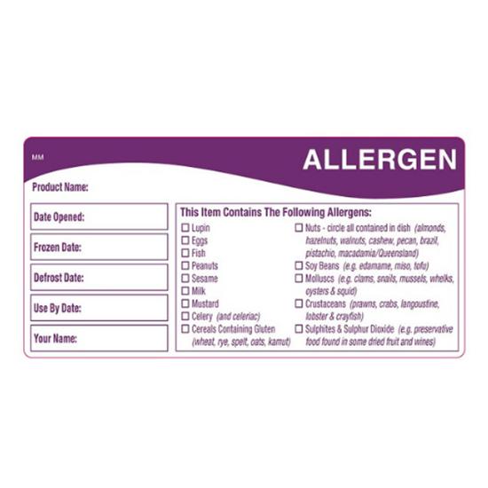 Allergen Label