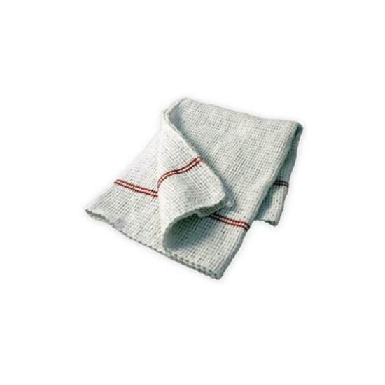 White Red Stripe Oven Cloth Tea Towel