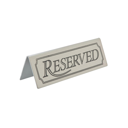 Picture of Reserved Sign Stainless Steel