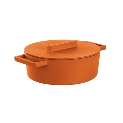 Orange Saucepot With lid