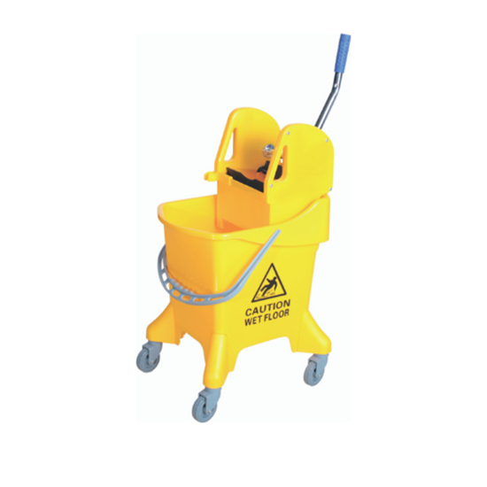 Picture of Yellow Mobile Mop Bucket & Wringer 31L