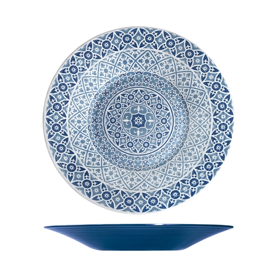 Marrakesh Blue Melamine Bowl
