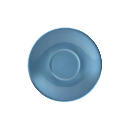 "Picture of Royal Genware Blue Saucer 5.3"" (13.5cm)"