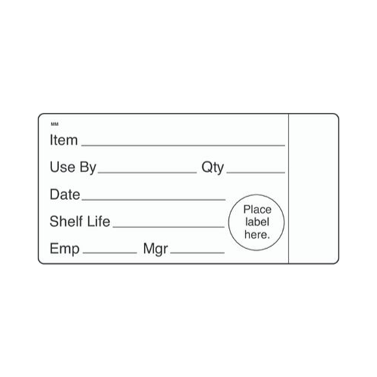 "Picture of Shelf Life Removeable Food Labels 2x4"" (5.1x10.2cm)"