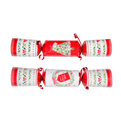 """Picture of Mixed Christmas Wishes Red & Green Cracker 9"""" (22.9cm)"""