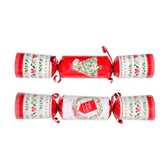 "Picture of Mixed Christmas Wishes Red & Green Cracker 9"" (22.9cm)"