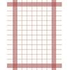 38 x 54cm Red Towel Napkin