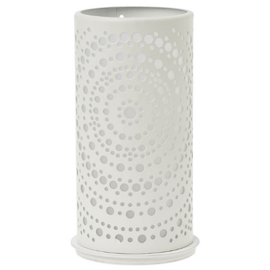 Billy White Candle Holder