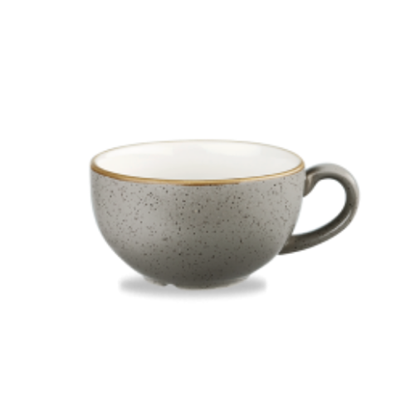 Churchill Stonecast Peppercorn Grey Cappuccino Cup 12oz
