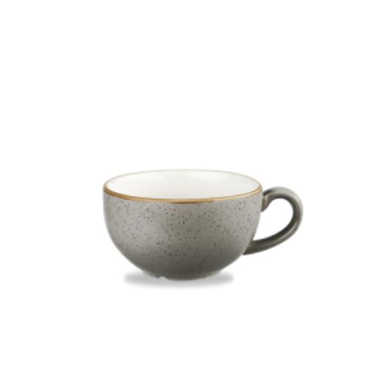Churchill Stonecast Peppercorn Grey Cappuccino Cup