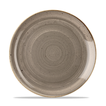 Churchill Stonecast Peppercorn Grey Coupe Plate