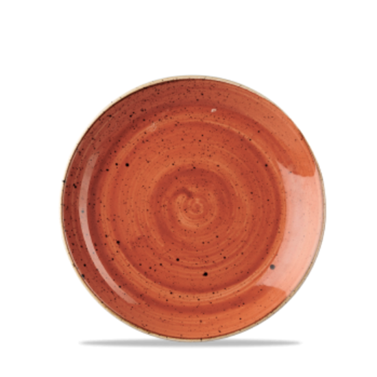 Churchill Stonecast Spiced Orange Coupe Plate
