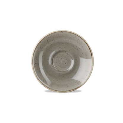 Churchill Stonecast Peppercorn Grey Saucer