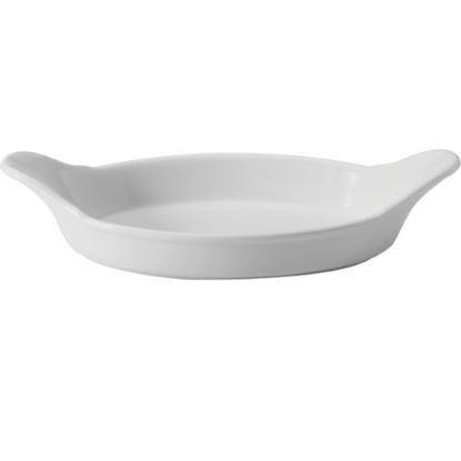 "Apollo White Oval Eared Dish 10"""