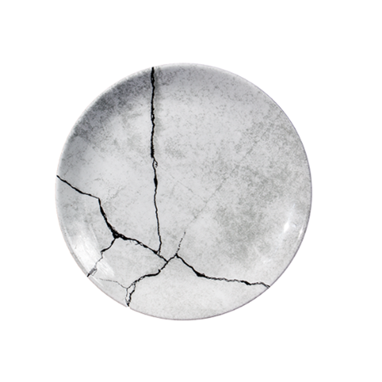 "Churchill Concrete Coupe Plate 10.3"" (26cm)"
