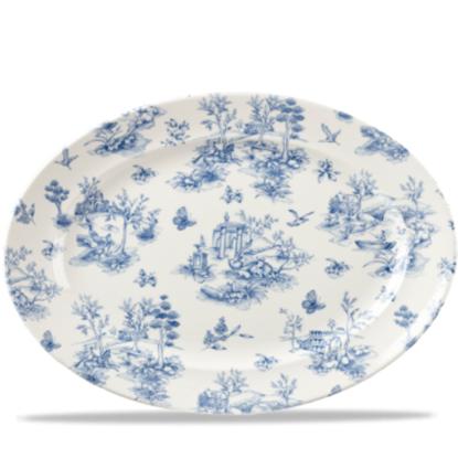 """Churchill Vintage Prints Prague Blue Toile Plate 14.5"""""""