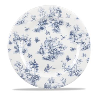 Vintage Print Prague Blue Toile Plate
