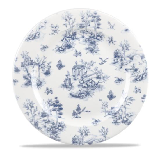 "Vintage Print Prague Blue Toile Plate 11"""