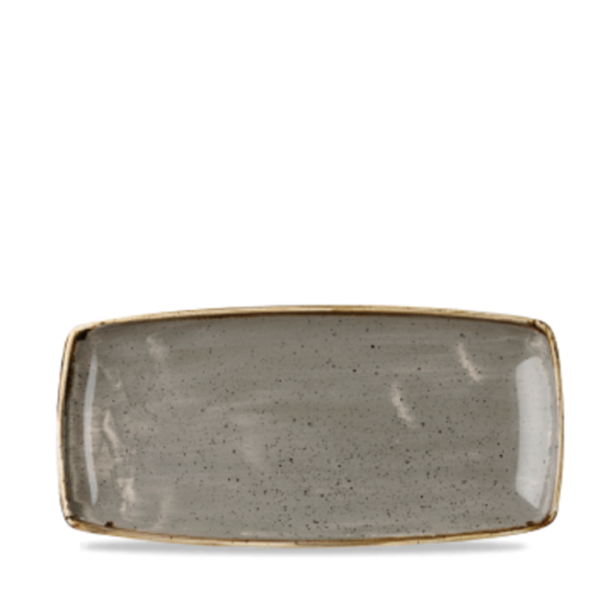 Churchill Stonecast Peppercorn Grey Oblong Plate