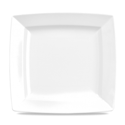 "Alchemy White Energy Square Plate 11"""