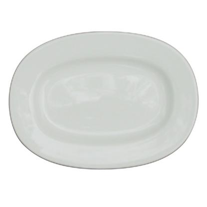 "Alchemy White Rimmed Oval Dish 11"""