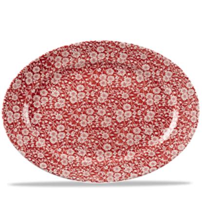 Churchill Cranberry Victorian Calico Oval Dish