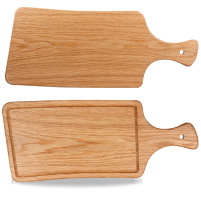 Churchill Art De Cuisine Rectangular Handled Oak Board