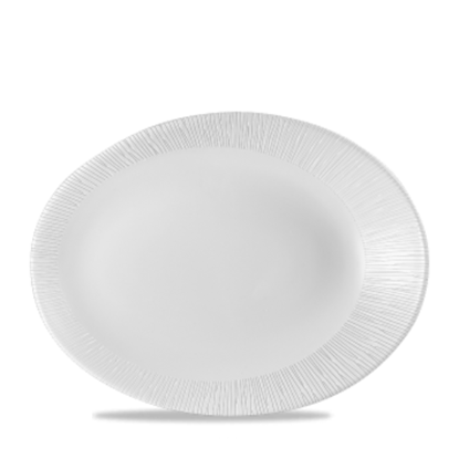 """Churchill Bamboo White Oval Plate 11.5x9"""""""